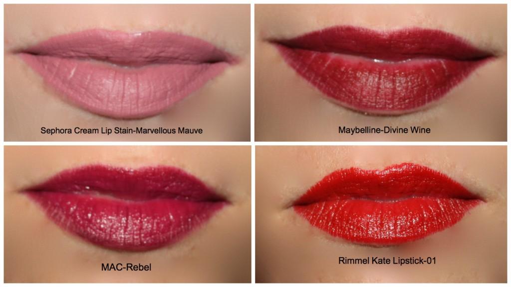lip swatches
